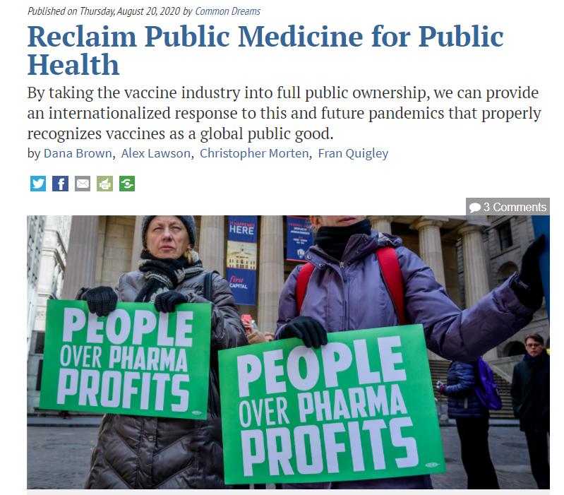 Public Medicine for Public Health