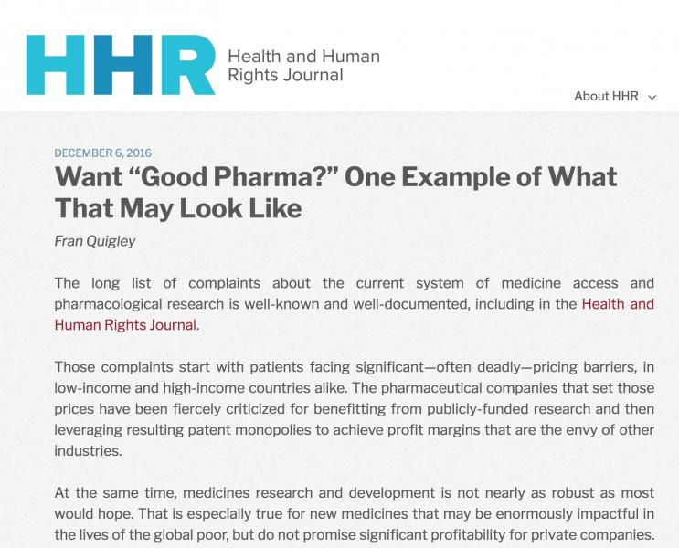 HHR - Good Pharma