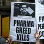 Pharma Greed Kills protestors